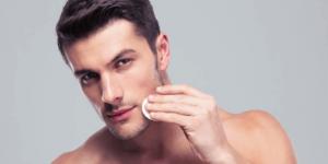 esfoliação da pele masculina