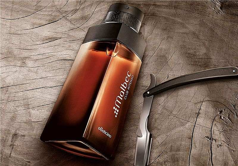 Imagem promocional do perfume Malbec da marca O Boticário