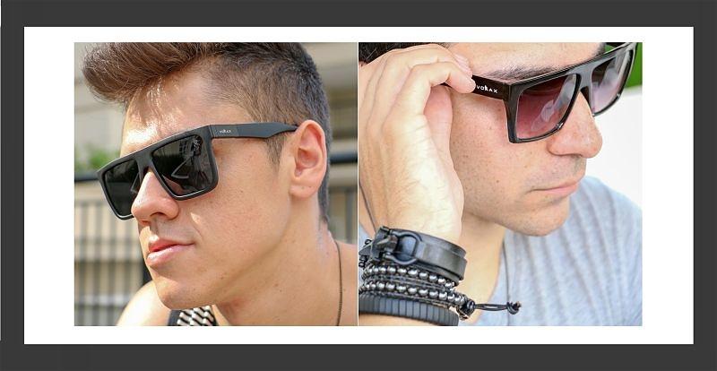 Imagem em destaque de dois modelos masculinos usando óculos de sol
